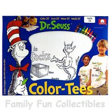 Dr. Seuss~1997 Imagine Nation Group~Color Tees~Fox in Sox~T Shirt & Crayons~Misb