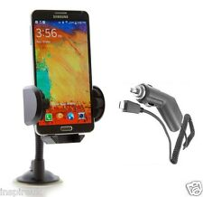WINDSCREEN HOLDER MOUNT CRADLE IN CAR CHARGER FOR SAMSUNG GALAXY NOTE 3 4 EDGE