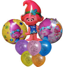 8PCES TROLLS POPPY BALLOON BIRTHDAY PARTY SUPPLIES LOLLY BAG FILLER GIFT FAVOR