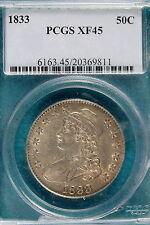 1833 PCGS XF45 Capped Bust Half Dollar!! #B4740