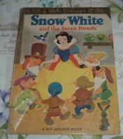 1952 BIG GOLDEN BOOK Walt Disney's SNOW WHITE AND THE SEVEN DWARFS Jane Werner