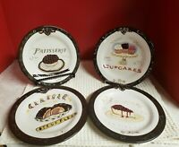 "Oneida Angela Staehling 8 1/2 "" Dessert Sweet Treat Plates Set Of 4 VGUC"