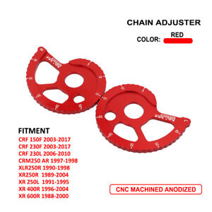 CNC Motorcycle Chain Adjuster For Honda CRF150F CRF230F 03-17 230L XR250L 400R