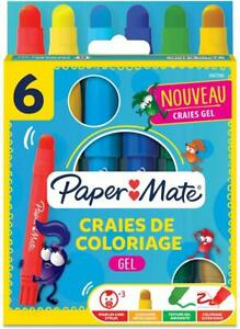 Paper Mate Gel Coloured Pencils Large Assorted Colours Pack of 6