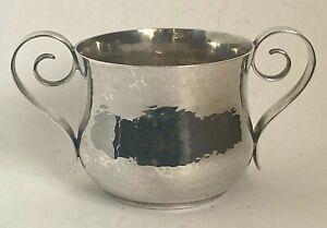 Antique Arts & Crafts Britannia Silver Loving Cup - London 1916 - 333.2g