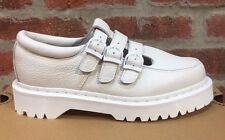 Dr. Martens Freya Blanc tante Sally Chaussures Cuir Taille UK 5