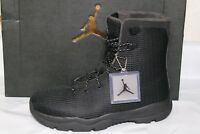NIKE JORDAN FUTURE MENS BOOT, WATERPROOF UPPER, SIZE 8 BLK/DARK GREY, 854554 002