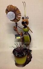 *Outdoor Solar Feature Light Solar Ant Planter Pot Metal Decor Garden art Light