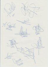 Athletico Madrid Copa del Rey ganadores 1992 Raro mano firmado Hojas A4 X 20 Sigs