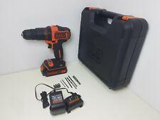 Black + Decker Cordless Hammer Drill with Battery - 18V (112)
