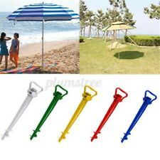 Beach Sun Shade Umbrella Holder Parasol Ground Earth Anchor Spike Stand  |