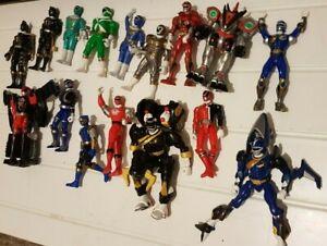 16 x Bandai Power Rangers Action Figures +More Toys Bundle Job Lot Retro Vintage