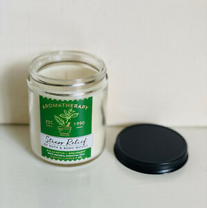 BATH & BODY WORKS AROMATHERAPY STRESS RELIEF SCENTED CANDLE EUCALYPTUS SPEARMINT