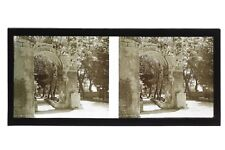 Arles Les Alyscamps France Photo Stereo Plaque de verre Vintage 1928