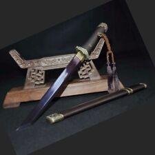 Short sword self-defense Dagger Pattern Steel Sharp Blade Battle ready #1396