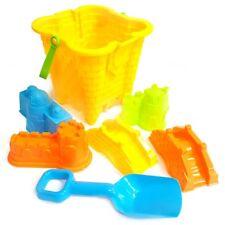 Bucket and Spade 7pc Set Beach Garden & Sandpit Toys New Kids Sand Castle Summer