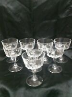 Vintage Champagne Coupes 8 Fine Cut Crystal glass Cut Stem BEAUTIFULL