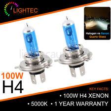 H4 100W HID WHITE XENON HALOGEN BULBS 12V PLASMA UPGRADE 5000K-6000K DACIA