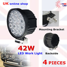 4 x 42W Round LED Work Light Spot Offroad Lamp Truck Fog Driving lamp 4WD SUV
