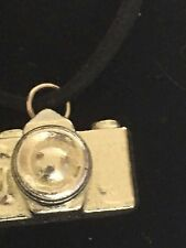 "Camera TG56 Fine English Pewter On 18"" Black Cord Necklace"