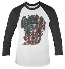 Gas Monkey Garage 'marchio di Scimmia degli S.u.a.' Long Sleeve Baseball Shirt & Large