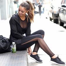 Yoga Pants Women's Athletic Space Leggings Sports Mesh Pants Legs Black S M L XL