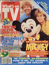 WHAT'S ON TV 4/92 - Matthew Kelly, Paul Nicholas, Simon Mayo, Noel Edmonds