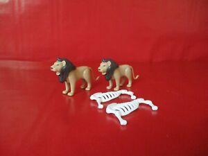 Playmobil  2 Löwen Figuren zur Safari Zoo Zirkus