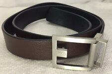 Hugo Boss C-Fleming Reversible Black/Brown Leather Belt Size 41-45