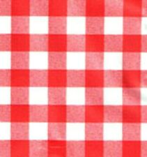 """A Red Check/Gingham Pvc/Wipeable Tablecloth 54"""" x 70"""" (137cms x 178cms)"""