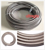 10 Feet AN8 -8AN Stainless Steel Braided Turbo Fuel / Oil Line Hose AN8 Silver