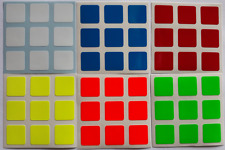 Magic Cube Stickers 3x3 57mm Half Bright Fluo Color fits to Rubik Dayan Shengsho