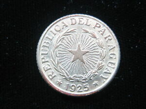 PARAGUAY 1 PESO 1925 KM13 AU SHARP 928# WORLD MONEY COIN