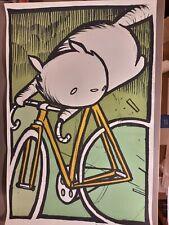 Cat on a Bike 2007 Art Print - Jay Ryan Print Poster S/N
