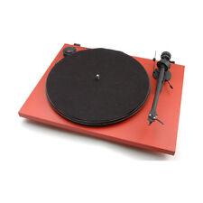 Pro-Ject Essential II Phono USB Plattenspieler (Rot) + Ortofon OM 5E NEU+OVP!