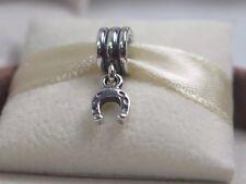 New Retired w/Box Pandora Lucky Horse Shoe Dangle Charm #790259 Equestrian Luck
