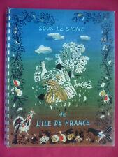 GRANDS VINS+TARIF NICOLAS 1956-SOUS LE SIGNE DE ILE~DE~FRANCE-ILLUSTRATION OUDOT