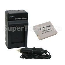 Battery & Charger Combo Kit for Canon NB-5L NB5L Power shot SX210 SX230