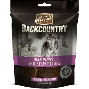 Merrick Backcountry Great Plains Real Steak Patties 4.5oz Free Shipping