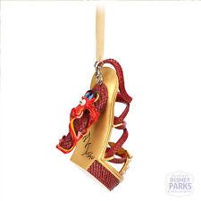 Disney Parks Authentic Mulan Mushu Runway Shoe Ornament NEW Christmas