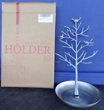 JQWORKLAND SILVERY BIRDS TREE - JEWELRY DISPLAY STAND - EARRINGS AND NECKLACES