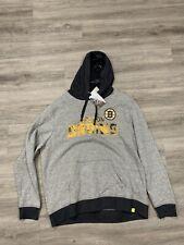 Men's Boston Bruins Hockey NHL Hoodie Sweatshirt XL Gray Majestic