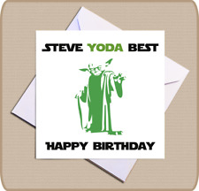 Personalised Star Wars Yoda Birthday Card - Yoda Best Happy Birthday