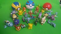 Vintage 90s Tomy Pokemon PVC Figures 2 Clip On Pokeballs few first generation