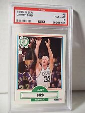 1990 Fleer Larry Bird PSA NM-MT 8 Basketball Card #8 NBA Collectible