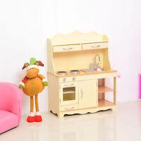 Children's Role Play Pretend Set Toy Large Girls Kid Wooden Kitchen