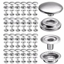 100Pcs 25 Set Stainless Fastener Snap Press Stud Cap Button Boat Canvas Kit US
