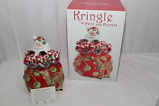 Fitz and Floyd KRINGLE Santa Claus Candy Cane Reindeer Bag Christmas Cookie Jar