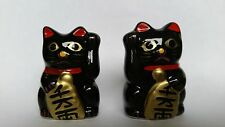 black lucky cat maneki neko Japanese Asian figure