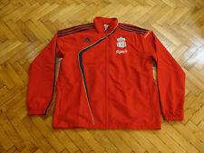 Liverpool Soccer Top LFC Adidas England Football Presentation Jacket Red NEW   L